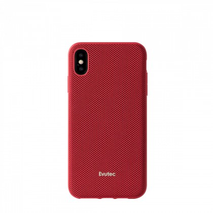 Evutec Ballistic Nylon Aergo Series With Afix Case for iPhone Xs Max - Red