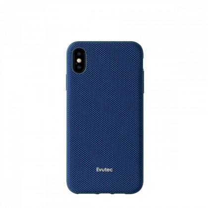 EVUTEC AERGO BALLISTIC NYLON WITH AFIX IPHONE XS MAX 6.5'' BLUE