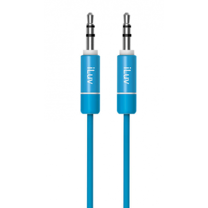 iLuv Premium Aux-in Audio Cable, 3ft - Purpl