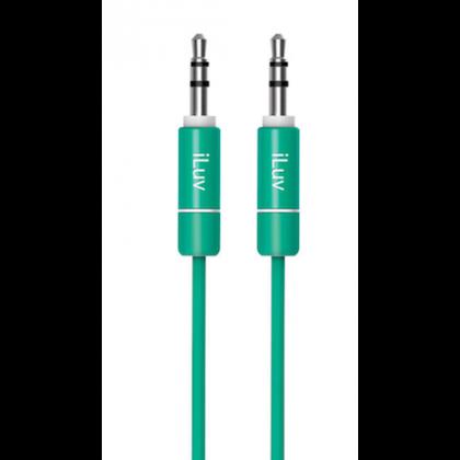 iLuv Premium Aux v Audio kabel, 0.9m - Green