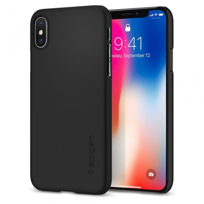 Spigen iPhone X Thin Fit Matte Black 057CS22108