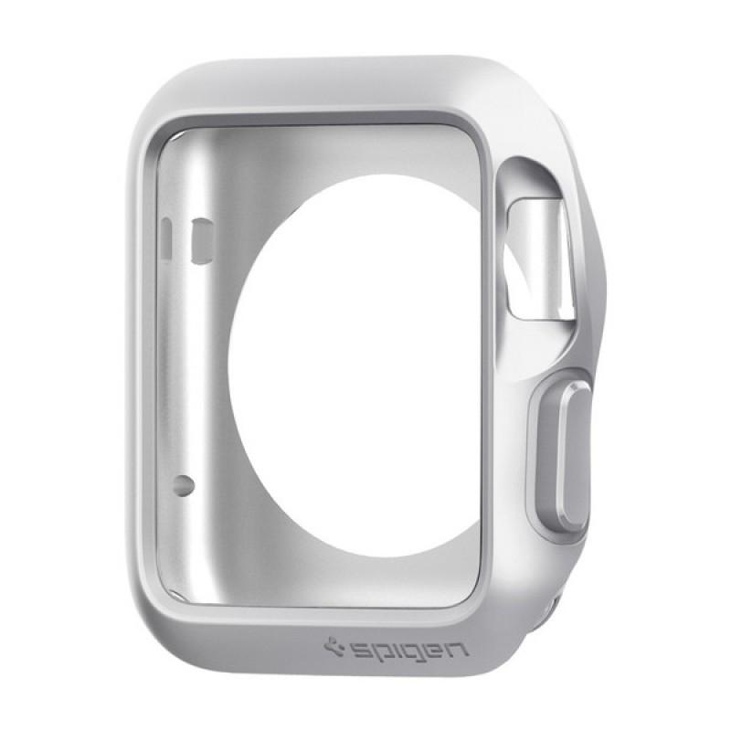 Spigen Slim Armor - tenké pouzdro pro AppleWatch (42mm) - stříbrné