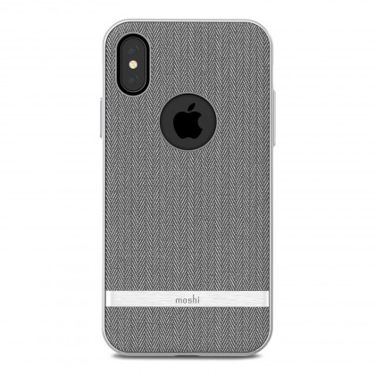 Vesta for iPhone X Herringbone Gray