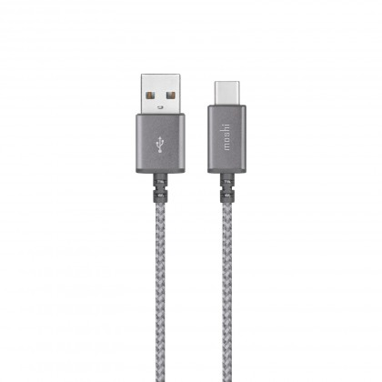 "Moshi Integraâ""¢ USB-C to USB-A Charge/Sync Cable - Titanium Gray"