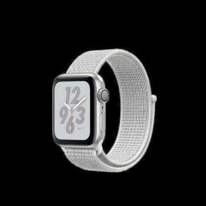 AppleWatch Nike+ Series4 GPS, 40mm Silver Aluminium Case with Summit White Nike Sport Loop