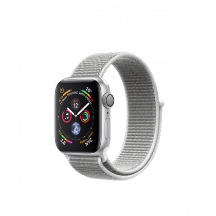 40mm Apple Watch Series 4 GPS  Silver Aluminum Case with Seashell Sport Loop