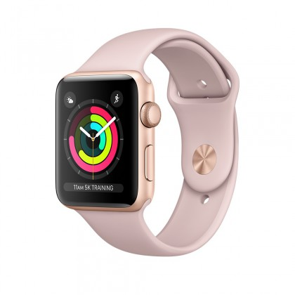 Apple Watch Series 3 GPS, Gold Aluminium Case with Pink Sand Sport Band