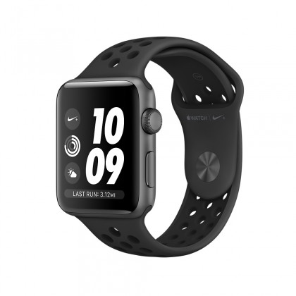 Apple Watch Nike+ GPS, Space Grey Aluminium Case with Anthracite/Black Nike Sport Band