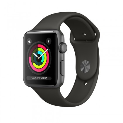 Apple Watch Series 3 GPS, Space Grey Aluminium Case with Grey Sport Band