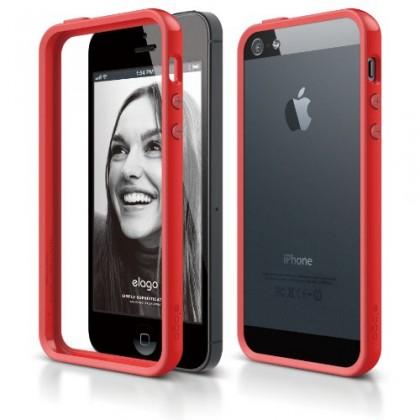 elago S5 Bumper Case for iPhone 5 - Red