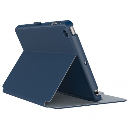 SPECK iPad Mini 4 StyleFolio Deep Sea Blue/Nickel Grey