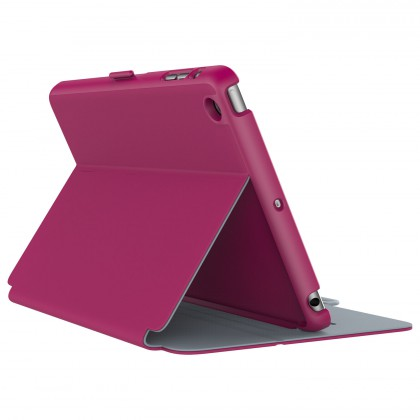 SPECK iPad Mini 4 StyleFolio Fuchsia/Nickel Grey