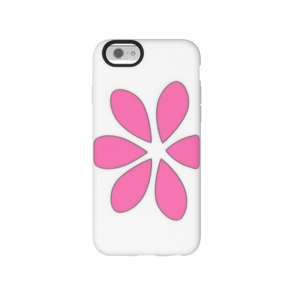 Agent18 FlowerVest for iPhone 6 - White/Pink