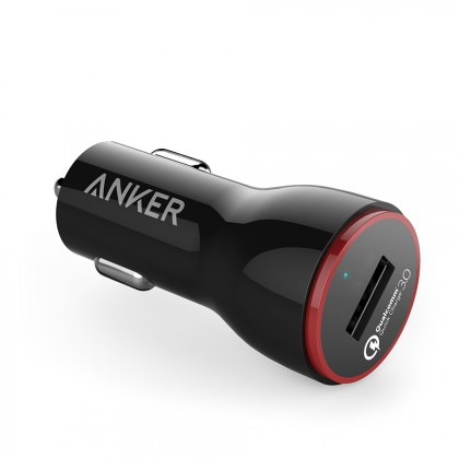 Anker PowerDrive+124W car charger QC3.0 + 3ft micro Black