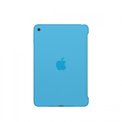 Apple - iPad mini 4 Silicone Case - Blue