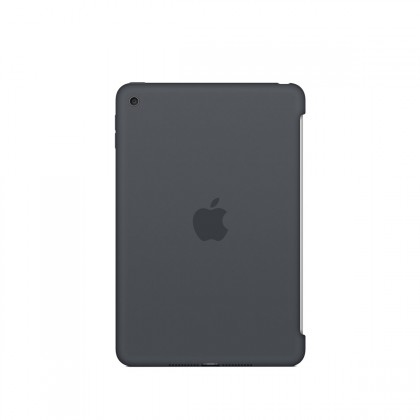 Apple - iPad mini 4 Silicone Case - Charcoal Gray