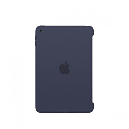 Apple - iPad mini 4 Silicone Case - Midnight Blue