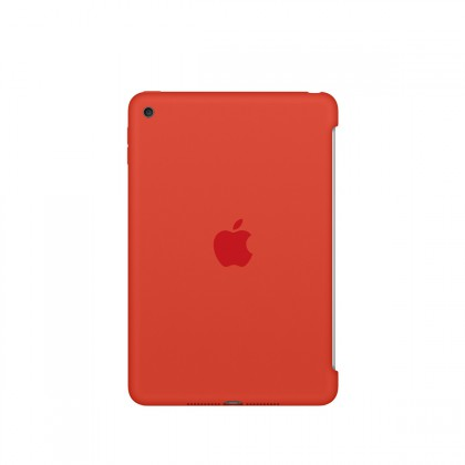 Apple - iPad mini 4 Silicone Case - Orange