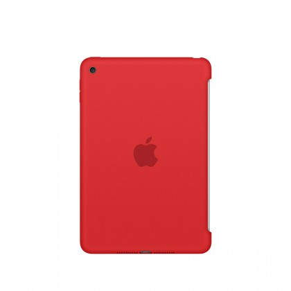 Apple - iPad mini 4 Silicone Case - Red
