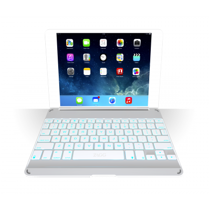 ZAGGkeys Cover Silver Backlit pro Apple iPad Air CZ/SK