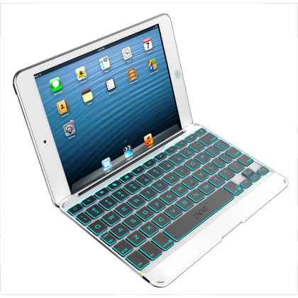 ZAGGkeys Cover Silver Backlit for iPad mini