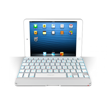 ZAGGkeys Cover Silver Backlit pro Apple iPad mini a mini Retina CZ/SK