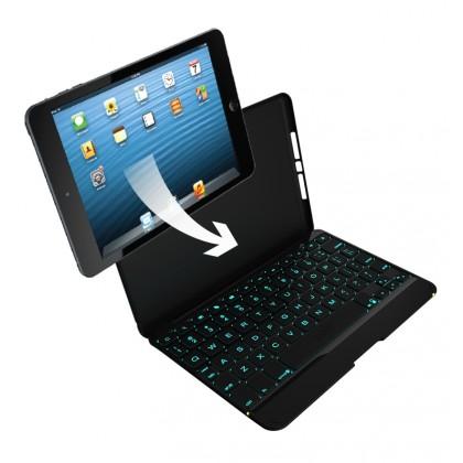 ZAGGkeys Folio černé s podsvícenou klávesnicí pro Apple iPad mini a mini Retina CZ/SK