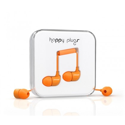 Happy Plugs In-Ear sluchátka oranžové