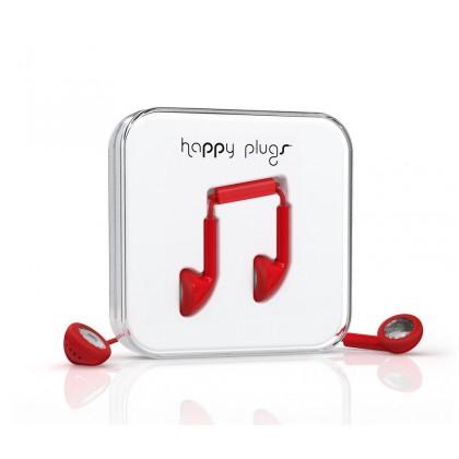 Happy Plugs Earbud sluchátka červené