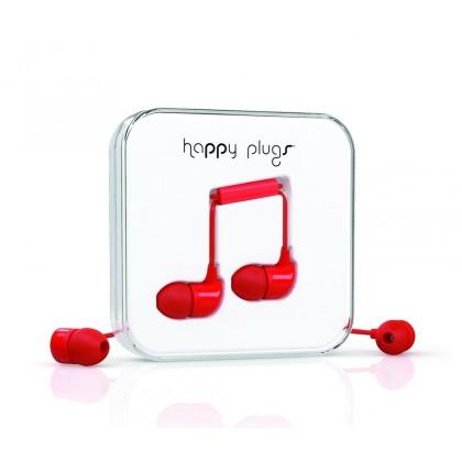 Happy Plugs In-Ear sluchátka červené