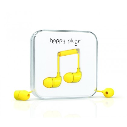Happy Plugs In-Ear sluchátka žluté