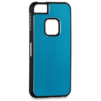Momax fT for iPhone 5, Feel & Touch series alu, Blue Black