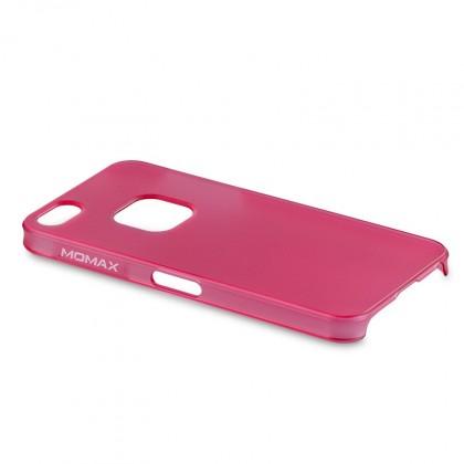 Momax Ultra Tough pro Apple iPhone 5 Clear touch - růžová