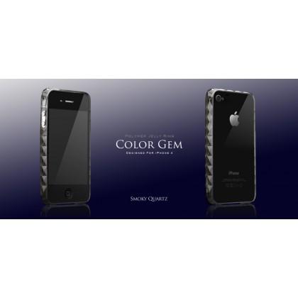 MORE Color Gem (Smoky Quartz - Black) iPhone4