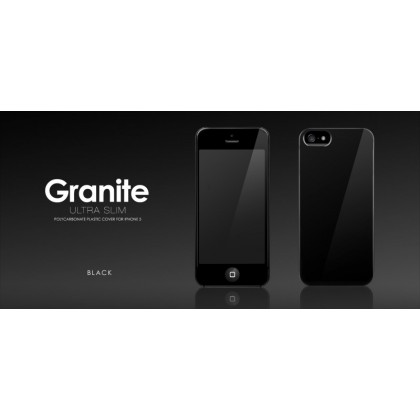 MORE Granite Collection (Black) for iPhone 5