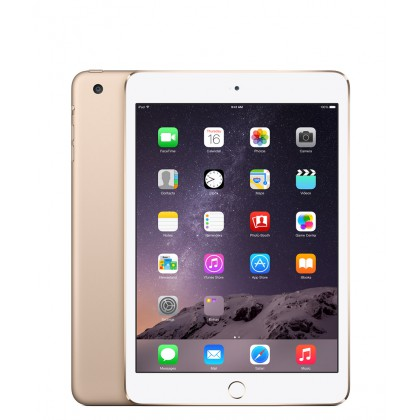 iPad mini 3 Wi-Fi + Cellular 16GB – zlatý