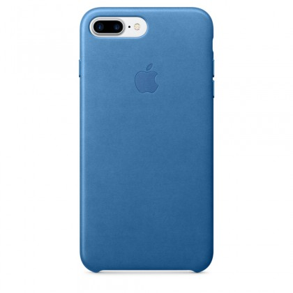iPhone 7 Plus Leather Case - Sea Blue
