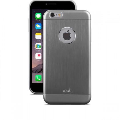 Moshi iGlaze Armour, hliníkový kryt pro iPhone 6 - šedý