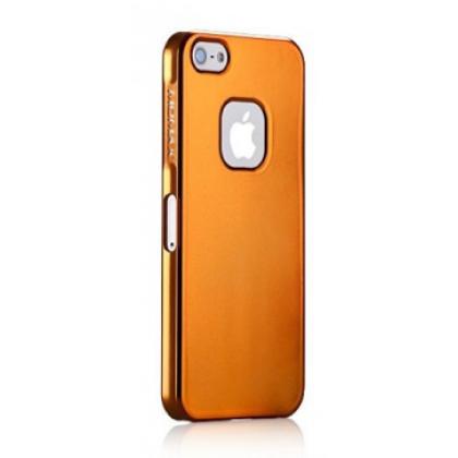 Momax Ultra Tough Case pro Apple iPhone 5 Metallic oranžový