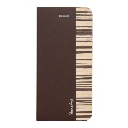 Stone Age Wood Skin Folio, hnědý kryt pro iPhone 6