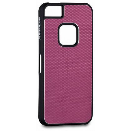 Momax fT for iPhone 5, Feel & Touch series alu, Pink Black
