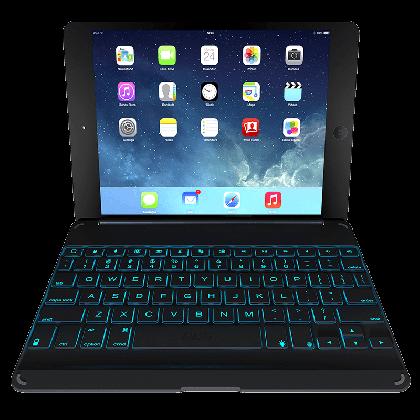 ZAGGkeys Folio černé s podsvícením pro Apple iPad AIR CZ/SK