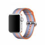 38mm Orange Woven Nylon