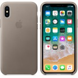 iPhone X Leather Case - Taupe