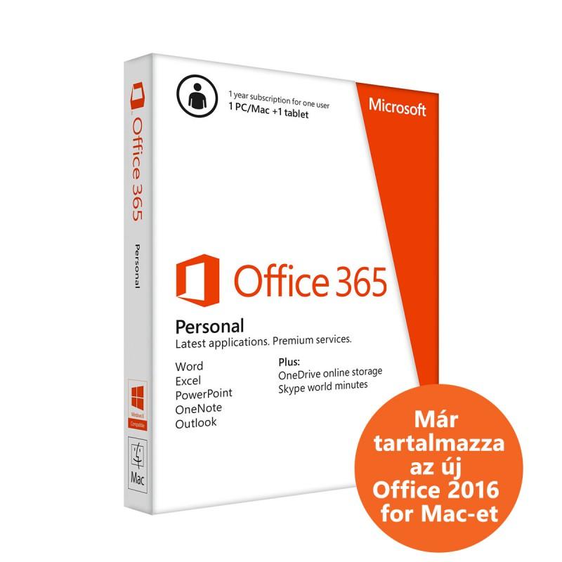 Microsoft Office 365 Personal - 1 éves előfizetés