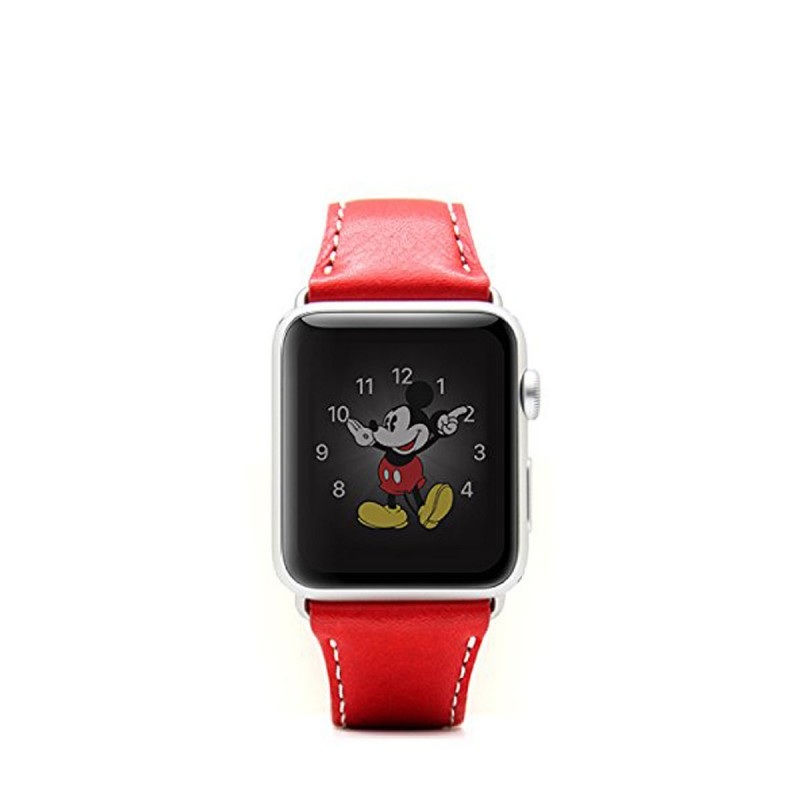 SLG Design - D6 Stripe Leather Band Apple Watch 42mm szíj