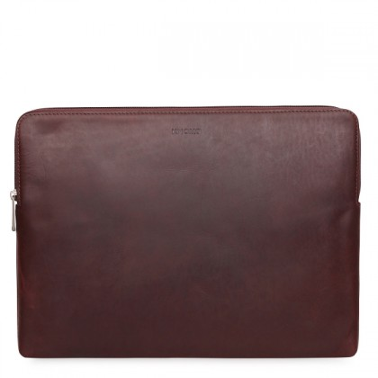 "Knomo Leather 15"" Laptop Sleeve Fits Macbook Pro Retina Sleek and elegant protection"