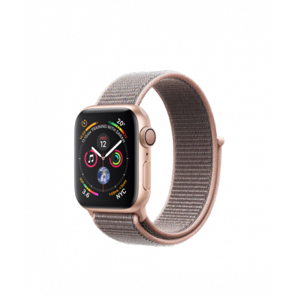 Apple Watch Series 4 Gold Aluminum Case with Pink Sand Sport Loop