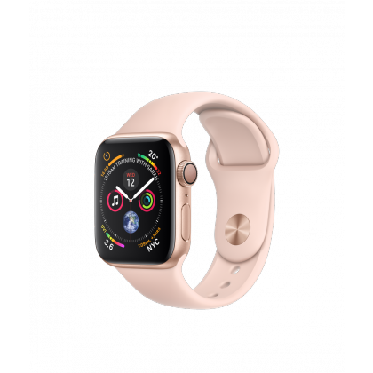Apple Watch Series 4 Silver Aluminum Case with Pink Sand Sport Band