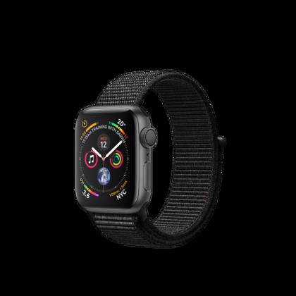 40mm Apple Watch Series 4 GPS  Space Gray Aluminum Case with Black Sport Loop